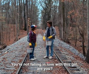 dustin, unhappy, and stranger things image