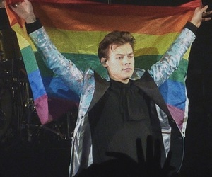 Harry Styles, rainbow, and icon image