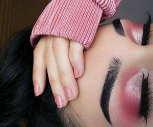 makeup, pink, and girl image