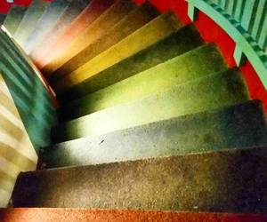 colorful, colors, and staircase image