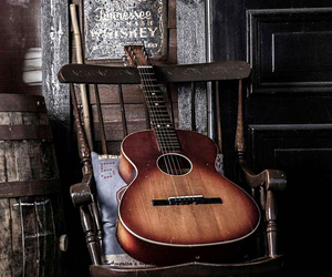guitar, music, and old image