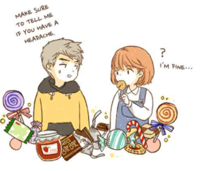 couple, webtoon, and cute image