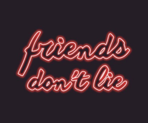 friends, red, and stranger things image