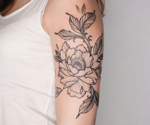 art, flower, and linework image