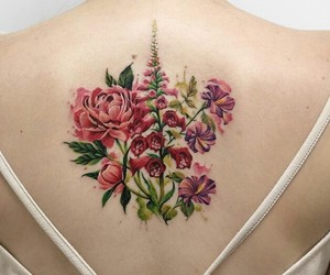 flowers, ink, and pink image