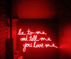 red, neon, and light image