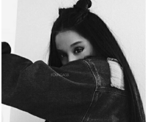 aesthetic, ariana grande, and black image