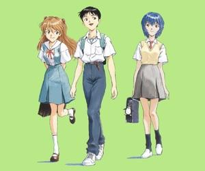 Neon Genesis Evangelion, rei ayanami, and shinji ikari image