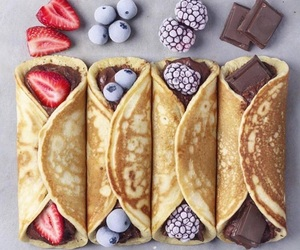 chocolate, food, and berries image