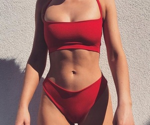 red, summer, and fashion image