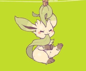 pokemon and leafeon image