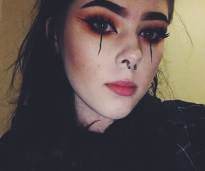 black, goth, and makeup image