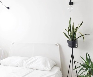interior, bed, and minimal image