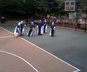 Basketball and nun image