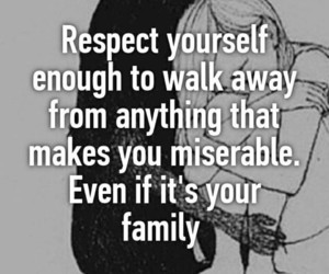 family, miserable, and quote image