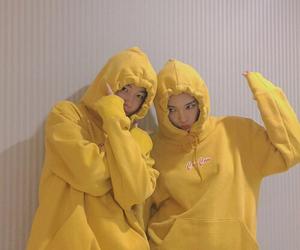 ulzzang, yellow, and couple image