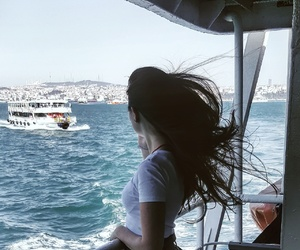 city, hair, and travel image