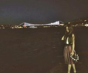 bridge, city, and night image