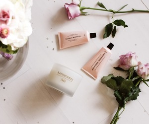 beauty, roses, and skincare image