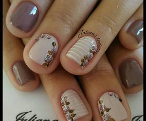 beige, brown, and Fleurs image