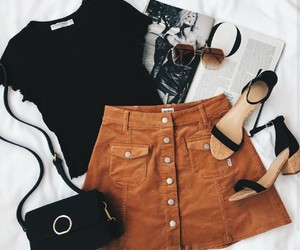 bags, heels, and outfit image