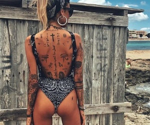 butt, girl, and tattoo image