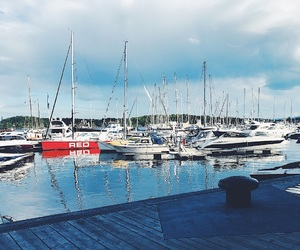 boats, water, and nature image