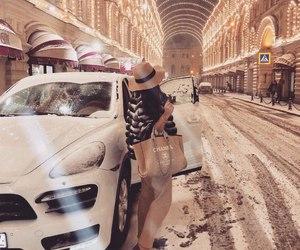 winter, girl, and luxury image