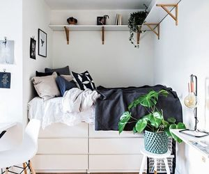 home, bed, and room image