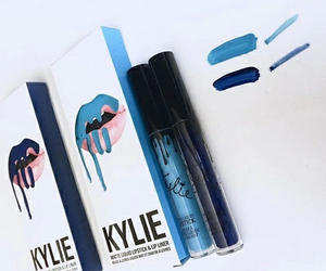 blue, makeup, and kylie image