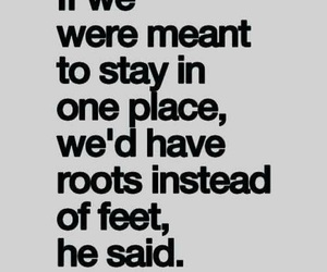 quotes, travel, and feet image