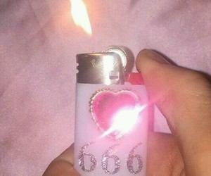 pink, 666, and lighter image