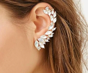 earring, fashion, and leaves image