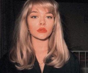vintage, girl, and blonde image