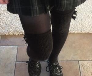 creepers, kneesocks, and skirt image