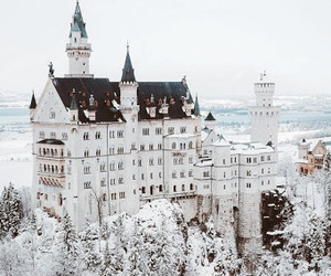 winter, castle, and snow image