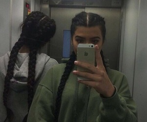 girl, braid, and hair image