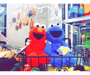 cookie monster, elmo, and sessame street image