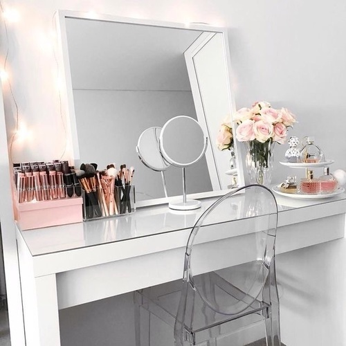 Makeup Vanity Ideas For A Small Bedroom on We Heart It