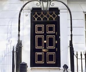 black, door, and travel image