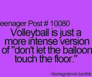 volleyball, teenager post, and funny image