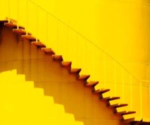stairs, sunshine yellow, and yellow image