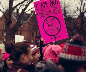 feminism, girl power, and womens march image