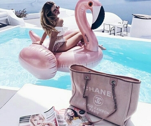 summer, chanel, and pink image