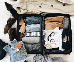 travel and suitcase image