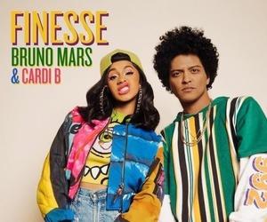finesse, bruno mars, and cardi b image