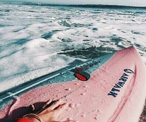 pink, surf, and summer image