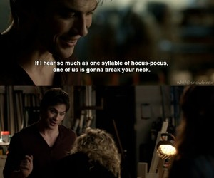 damon, funny, and quote image