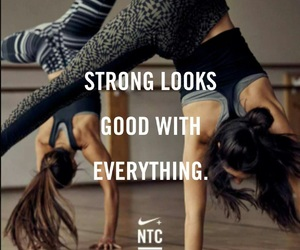 girl, nike, and workout image