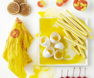food, photography, and yellow image